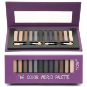 eshion 12 Colours Makeup Eyeshadow Cosmetic Matte Shimmer Eye Shadow Palette & Sponge