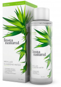 InstaNatural Micellar Water - Gentle Nonrinse Facial Cleansing & Simple Makeup Remover - Natural Skin Care Solution for Sensitive Skin - Fast Daily Hydration - Great for Post Gym Use & Travel - 240ml