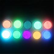NICOLE DIARY 10 Neon Colours Phosphorescent FLUORESCENT Powder Glow In Dark Nail Art Acrylic Use