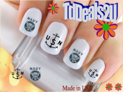 Military - Navy Anchor - WaterSlide Nail Art Decals - Highest Quality! Made in USA