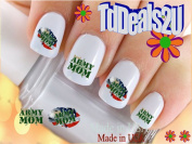 Military - Army MOM - WaterSlide Nail Art Decals - Highest Quality! Made in USA