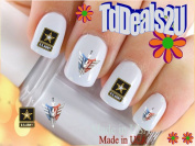 Military - Army Star - WaterSlide Nail Art Decals - Highest Quality! Made in USA
