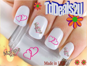 Military - Marine Wife Heart - WaterSlide Nail Art Decals - Highest Quality! Made in USA