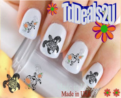 Hawaiian Sea Turtle Set 2 - WaterSlide Nail Art Decals - Highest Quality! Made in USA
