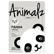 Look Beauty Pretty Animalz Panda Print Facial Sheet Mask 1 Count