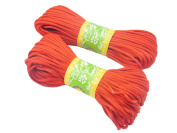 6Bundles 130Yards 2.5MM Red Polyester Rattail Satin Cord for Chinese Knotting Cord & Jewellery Making