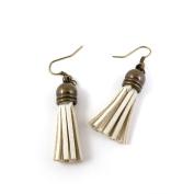 30 Pairs Fashion Jewellery Making Charms Earrings Backs Findings Arts Crafts Hooks Bulk Lots Wholesale Supplier K2UC5 White Tassels
