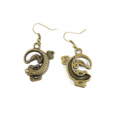 1 Pair Fashion Jewellery Making Charms Earrings Backs Findings Arts Crafts Hooks Bulk Lots Wholesale Supplier P2OI5 Lizard