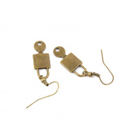 100 Pairs Fashion Jewellery Making Charms Earrings Backs Findings Arts Crafts Hooks Bulk Lots Wholesale Supplier B1DB8 Key Lock