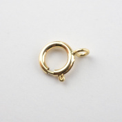 Ten 6mm 14k Gold Filled Spring Clasps With Closed Ring, Made in Italy