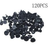 120PCS IFfree Black PVC Rubber Pin Backs Rubber Lapel Hat Tie Tac Tack Pin Back Holder Clasp.