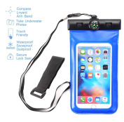 Asstar Universal Waterproof Case, Including Armband & Compass & Lanyard Best WaterProof for iPhone 7 / SE / 6s / 6s Plus, Galaxy Note 7 / S7 / S7 Edge,and Other Devices up to 15cm
