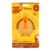 Foamies Foam Thanksgiving Turkey Crafting Kit -10cm - Supplies For 10