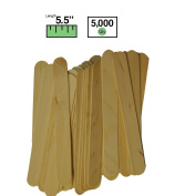 Brightwood Value Pack Jumbo Wooden Craft Sticks - 14cm - Case of 5000 Sticks