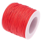 RED 1mm Waxed Cotton Braided Cord Wax Polished Macrame Beading Artisan String
