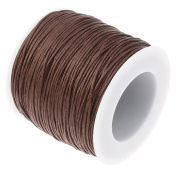 CHOCOLATE BROWN 1mm Waxed Cotton Braided Cord Wax Polished Macrame Beading Artisan String