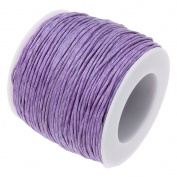 LILAC 1mm Waxed Cotton Braided Cord Wax Polished Macrame Beading Artisan String