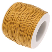 OLD GOLD 1mm Waxed Cotton Braided Cord Wax Polished Macrame Beading Artisan String