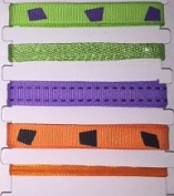 Printed Ribbon Assortment - Halloween Cheque/Stitched