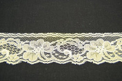 Ribbon Bazaar Lace 2613 Flat 4.3cm Ivory 5 yards 100% Polyester