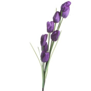 Factory Direct Craft® Tall Realistic Look Artificial Purple Tulip Spray for Floral Arranging, Crafting and Creating