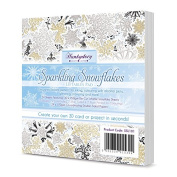Hunkydory Sparkling Snowflakes Liftables Pad Luxury Foiled & Die-Cut 54-Assorted Sheets