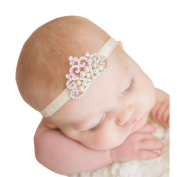 Fullkang Crown Hairband Princess Baby Girl Crystal Pearl Crown Headband