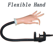 MF-CONLINE Professional Practise Model Hand For Nail Polish, Manicure Practise With Counter Clamp (1 X Flexible Hand )