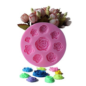 Mr.S Shop 1PCS Nine Roses Shape Silicone Mould Chocolate Biscuit Soap Mould Cake Decorating Mould