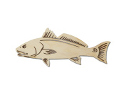 Red Fish Cut Out Unfinished Wood Sea Life Shapes 15cm Inch RDF-01