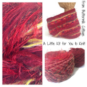 Boutique Yarn Cowl Knitting Kit Red