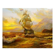 Gsha 5D Navigation Boat Diamond Embroidery Painting Cross Stitch