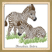 Good Value Cross Stitch Kits Beginners Kids Advanced -Baby Zebra 11 CT 33cm x 33cm , DIY Handmade Needlework Set Cross-Stitching Accurate Stamped Patterns Embroidery Home Decoration Frameless