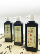 Hukaiwen Liquid Sumi Ink Grinded from Oil Soot Ink Stick for Chinese Japanese Traditional Calligraphy and Painting 3pcs/pack