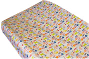 Go Mama Go Designs A is for Alien Changing Pad Cover, Blue