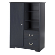South Shore Aviron Armoire with Drawers, Blueberry