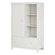 South Shore Cotton Candy Armoire with Drawer, Pure White