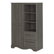 South Shore Savannah Armoire with Drawers, Grey Maple