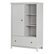 South Shore Cotton Candy Armoire with Drawer, Soft Grey