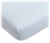 Tadpoles Crib Fitted Sheet, Classic Gingham/Blue