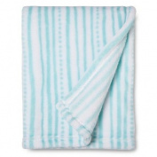 Wavy Stripe Baby Blanket TURQUOISE
