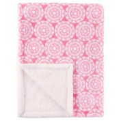 Baby Plush Blanket with Sherpa Backing PINK