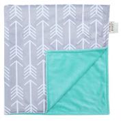 Towin Baby Arrow Minky Double Layer Receiving Blanket, Mint 30x40