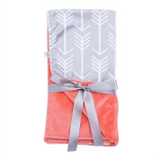 Towin Baby Arrow Minky Double Layer Receiving Blanket/Pet Dog Blanket, Coral 30x30