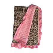 BayB Brand Blanket - Leopard and Pink