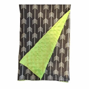 BayB Brand Blanket - Grey Arrow and Green