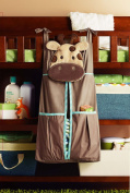 Baby Boy Safari Crib Bedding nappy stacker - Giraffe