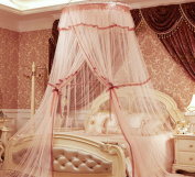 Elegent Round Hoop Bed Canopy Netting Mosquito Net for all Size Bed Netting Fit Crib, Twin, Full, Queen, King