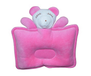 New Born Baby Infant Pillow Prevent Flat Head - Cute Little Puppy In Pink