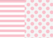 Pack N Play Playard Sheet Set - 2 Pack - Fitted, Soft Jersey Cotton Portable Crib Sheet - Baby Bedding in Pink Stripes & Polka Dots by Mumby - Best Baby Shower Gift for Girls